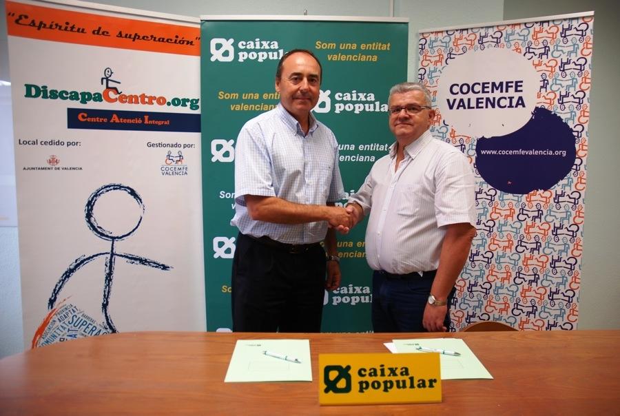 Caixa popular y la asociaci n valenciana de discapacitados for Oficinas de caixa popular en valencia