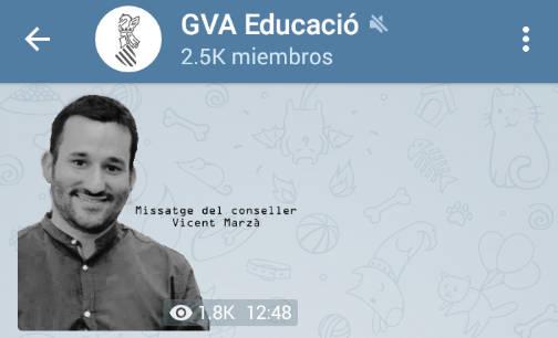 Educación estrena su Telegram con las becas comedor - Valencia Plaza