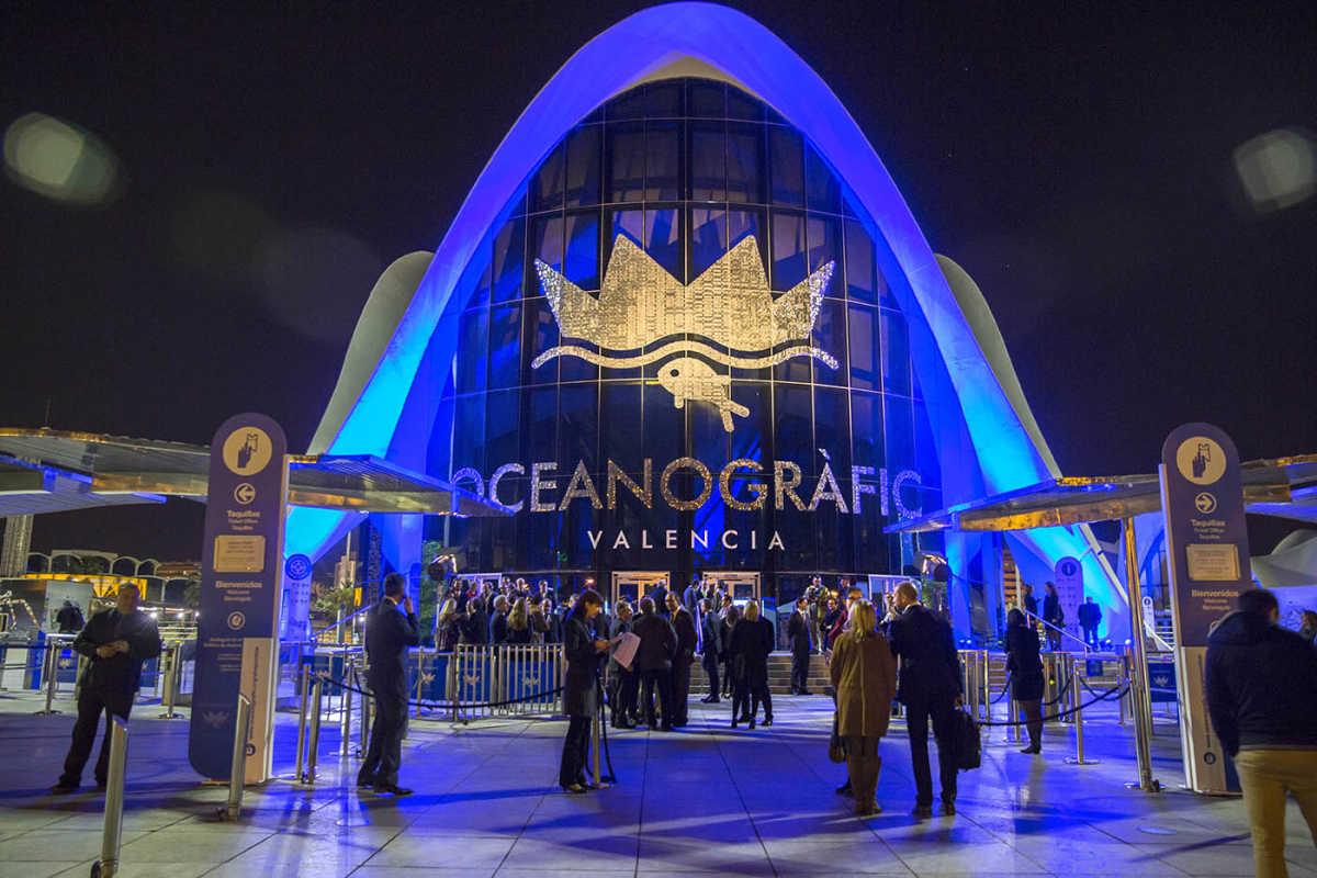Fotogaler a cena de reapertura del oceanogr fic fotos for Precio oceanografic valencia 2016