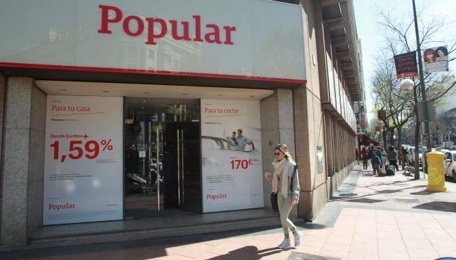 Banco popular planea cerrar m s oficinas tras liquidar el for Oficinas banco madrid