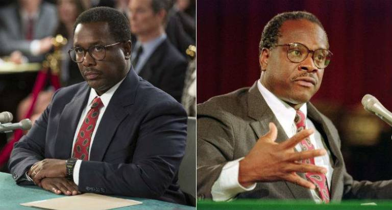 Foto: A la izquierda el actor Wendell Pierce, que interpreta al juez Clarence Thomas.