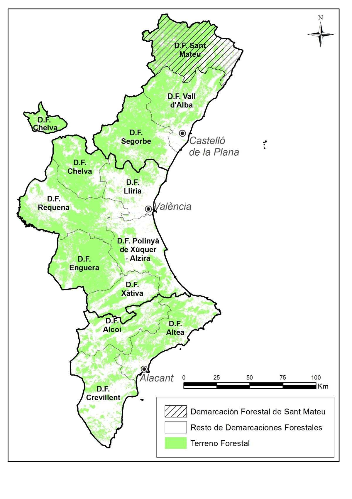 Los bosques del norte de castell n generan 53 millones de for Cabanas en los arboles comunidad valenciana