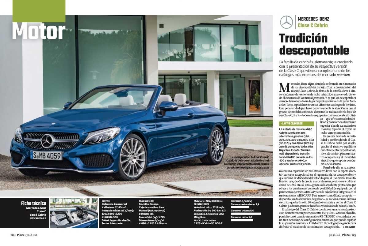 Plaza motor mercedes benz clase c cabrio tradici n for Mercedes benz valencia ca