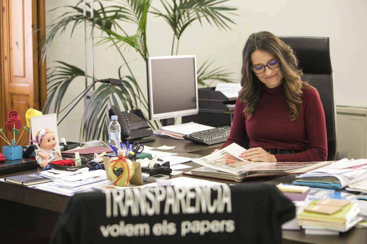 La número dos del Consell, Mónica Oltra. Foto: EVA MÁÑEZ