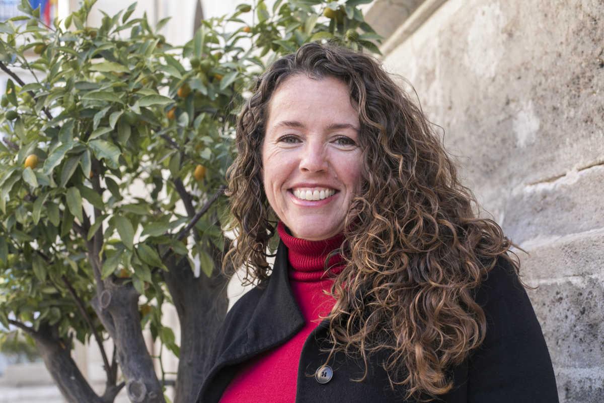 La coordinadora del grupo parlamentario Podemos, Beatriz Gascó. Foto: EVA MAÑEZ