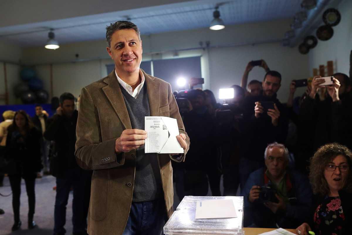 El candidato del PP, Xavier García Albiol, el gran derrotado de la jornada. Foto: EFE