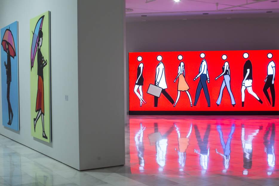 Fotogaler A Los Retratos Modernos De Julian Opie Llegan A