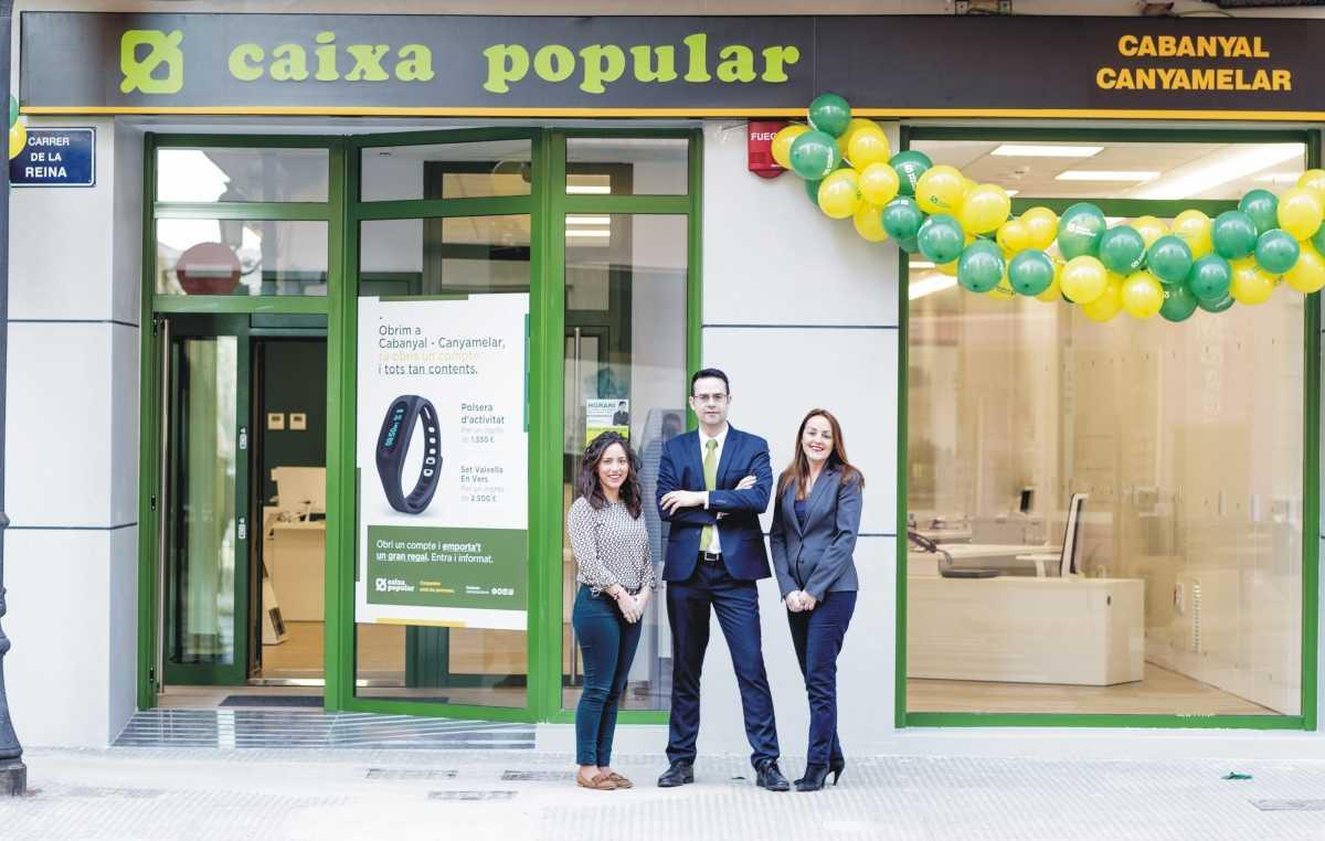Caixa popular llega con nueva oficina a cabanyal for Caixa horario oficinas