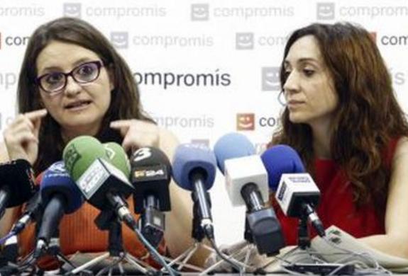 Mónica Oltra e Isaura Navarro. VP