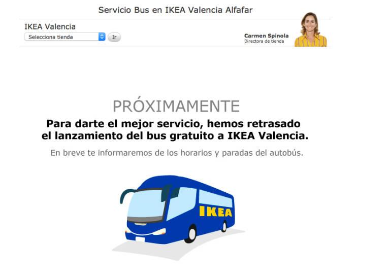 paradas autobus ikea valencia