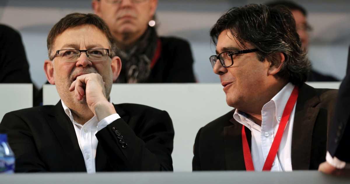 Ximo Puig junto a su vicesecretario de Organización, Alfred Boix. Foto: EFE