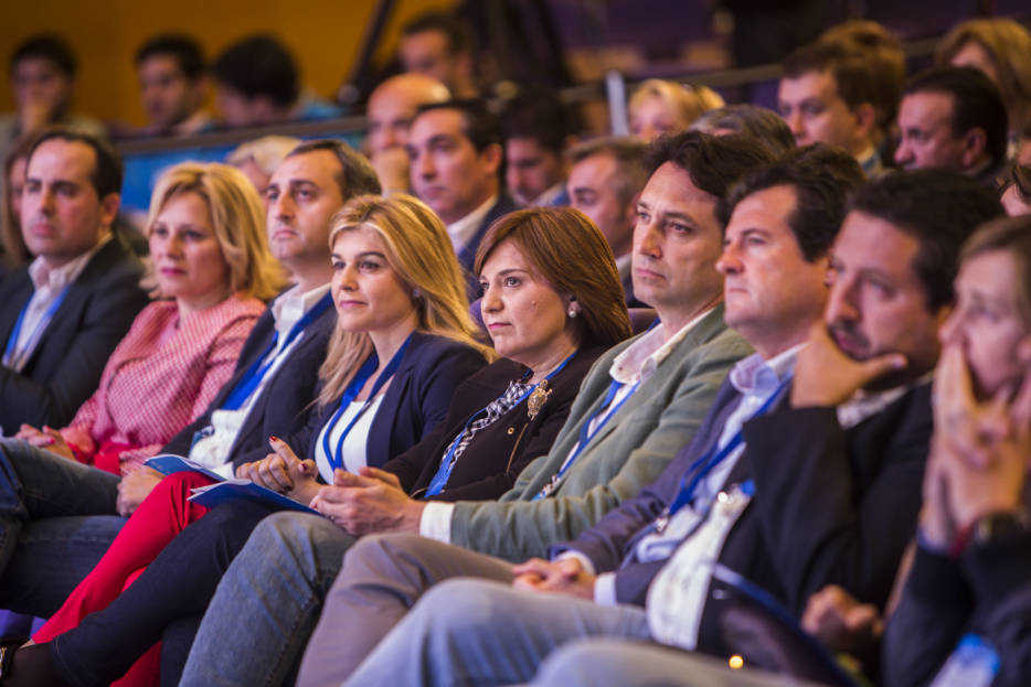Bonig en el congreso regional donde fue renovada como presidenta del PPCV. Foto: EVA MÁÑEZ