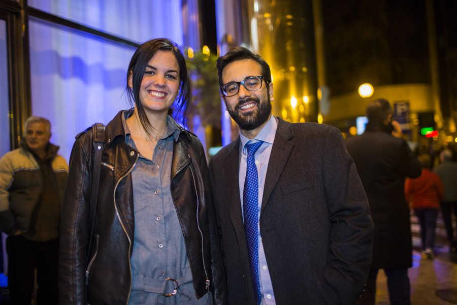 La portavoz municipal, Sandra Gómez, junto al diputado José Muñoz. Foto: EVA MÁÑEZ