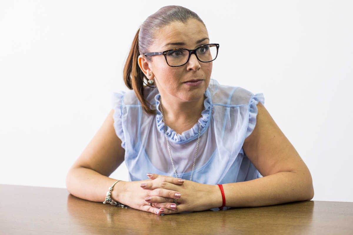 Mari Carmen Sánchez durante la entrevista. Foto: EVA MAÑEZ