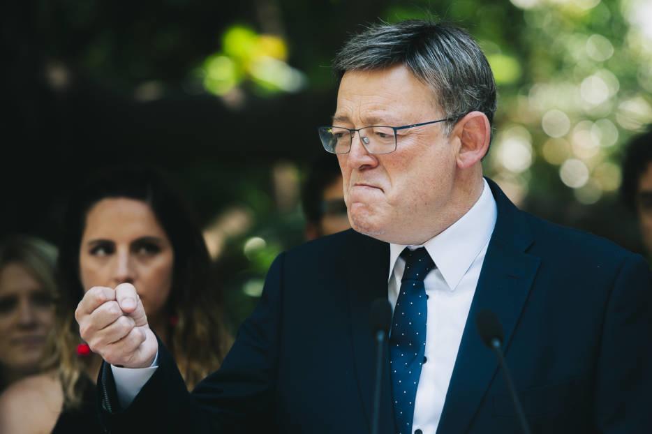 Ximo Puig en un momento de su discurso. Foto: KIKE TABERNER