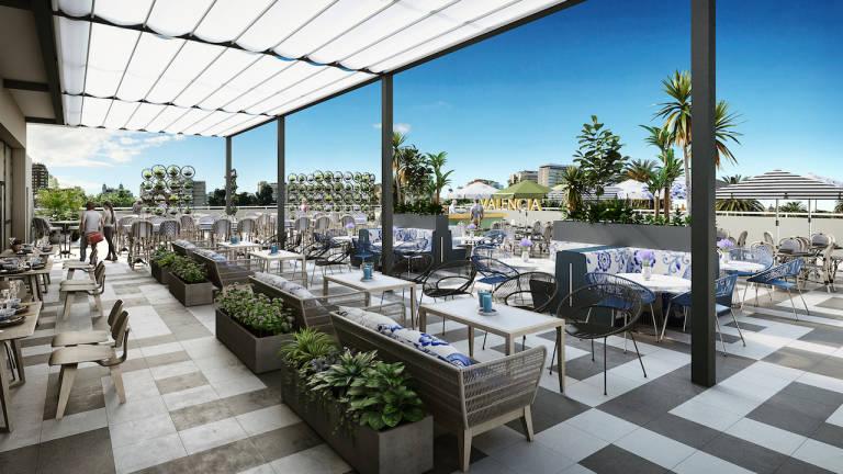 Restaurante panor mico espect culos y tardeo esta ser la propuesta de palau alameda para el - Muebles terraza valencia ...
