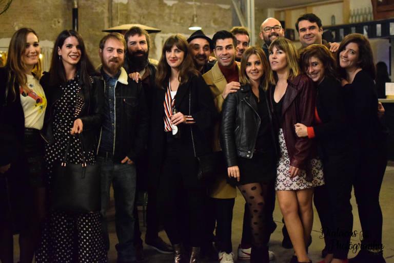 El equipo de 'Todos queríamos matar al presidente' en su presentación en Valencia. Foto: Diatacas Photography