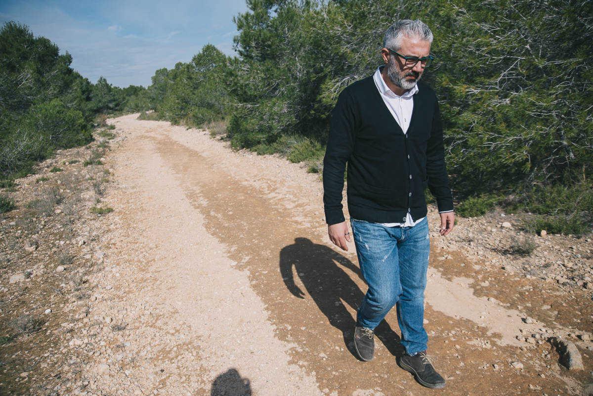 Juanma Ramón, en los terrenos donde está previsto Puerto Mediterráneo. Foto: KIKE TABERNER