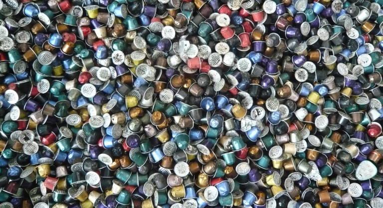 Residuos de capsulas de café.