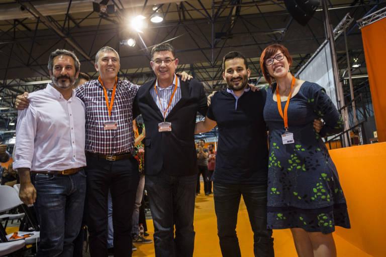 Carbonell, Climent, Morera, Marzà y Micó en el congreso del Bloc de 2016. Foto: EVA MÁÑEZ