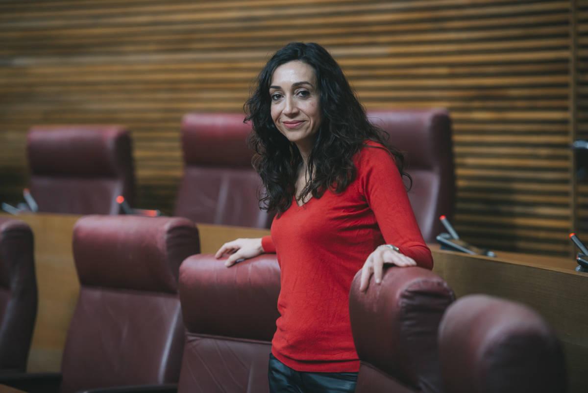 La diputada de Compromís, Isaura Navarro. Foto: KIKE TABERNER