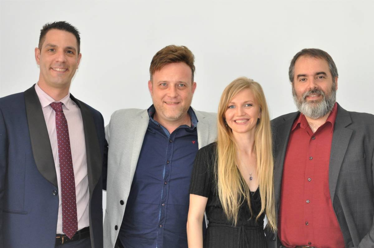 Rubén Tébar, Javier Tapia, Uliana Danylo and Albert Estrada, members of Cecryon.