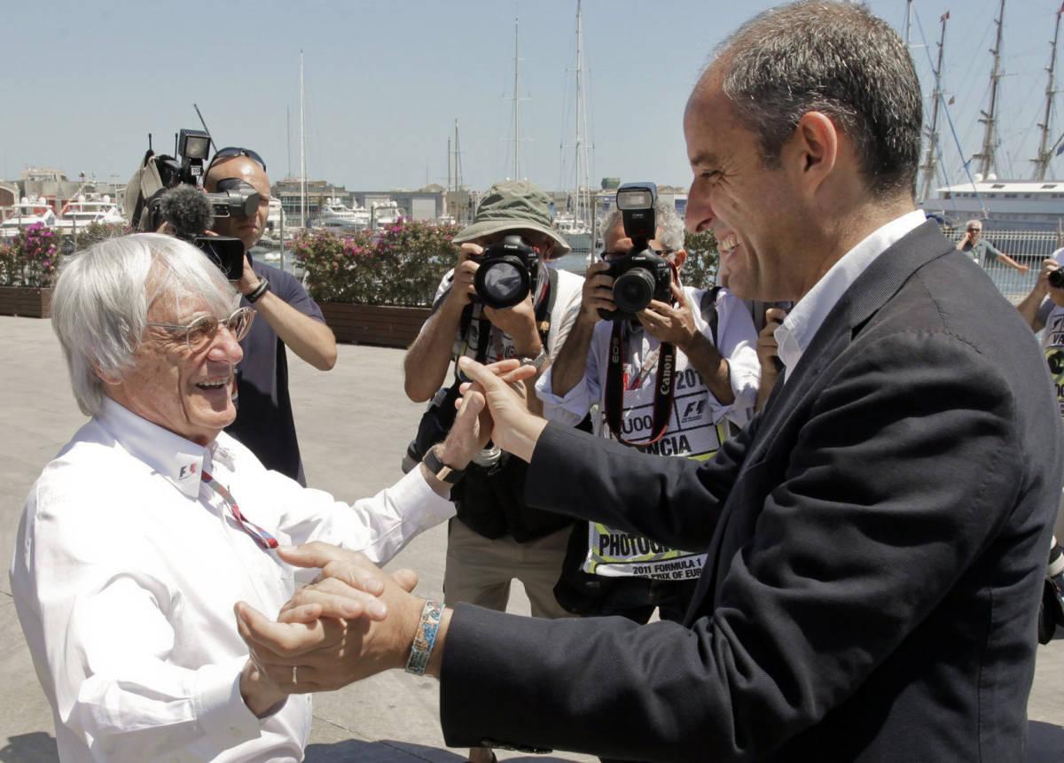 Bernie Ecclestone y Francisco Camps, en 2011. Foto: EFE/Luis Vidal