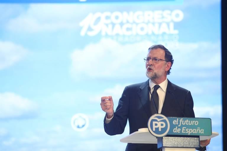 Mariano Rajoy durante su intervención. Foto: EP