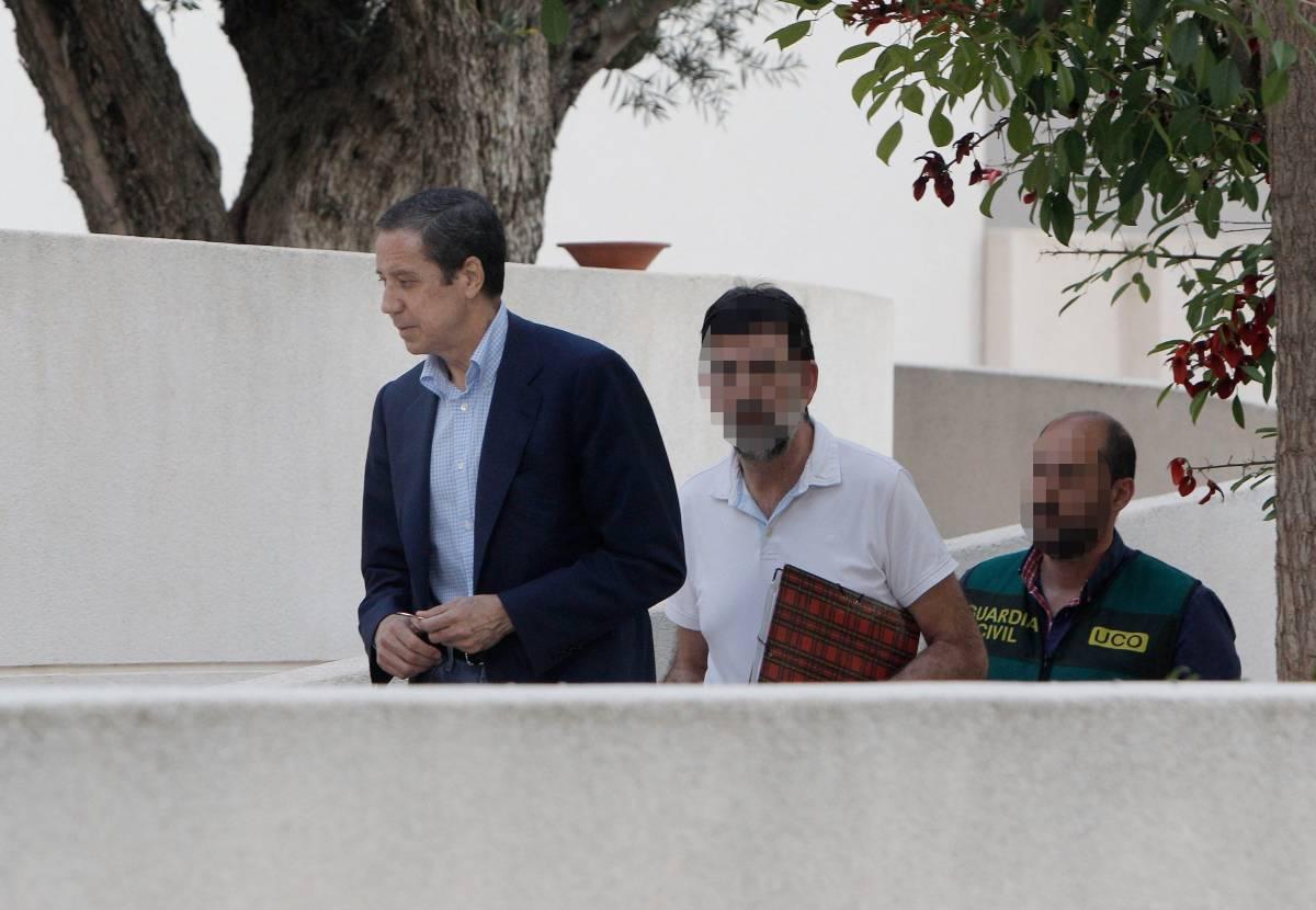 Zaplana, el día que fue detenido. Foto: EFE/Morell