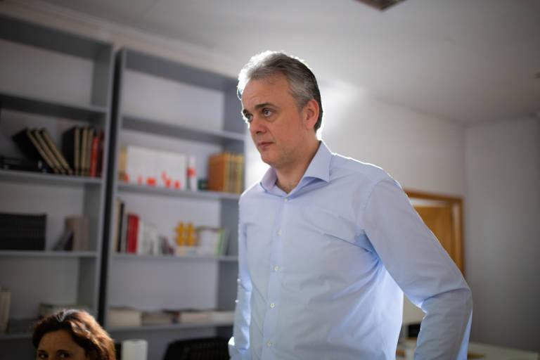 Héctor Illueca, número uno de Unides Podem por València. Foto: ESTRELLA JOVER