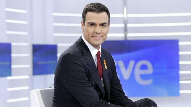 Pedro Sánchez durante una entrevista concecdida a TVE