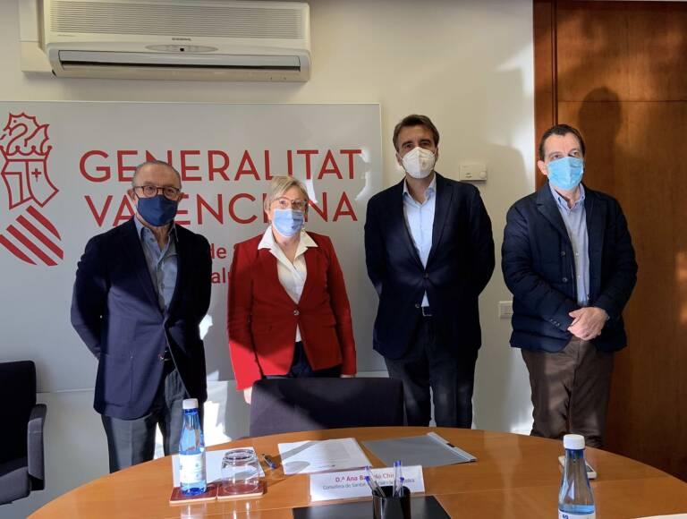 Juan Carlos Gómez Pantoja, Ana Barceló, Jesús Ferrer y Javier Soler. Foto: GÓMEZ-PANTOJA