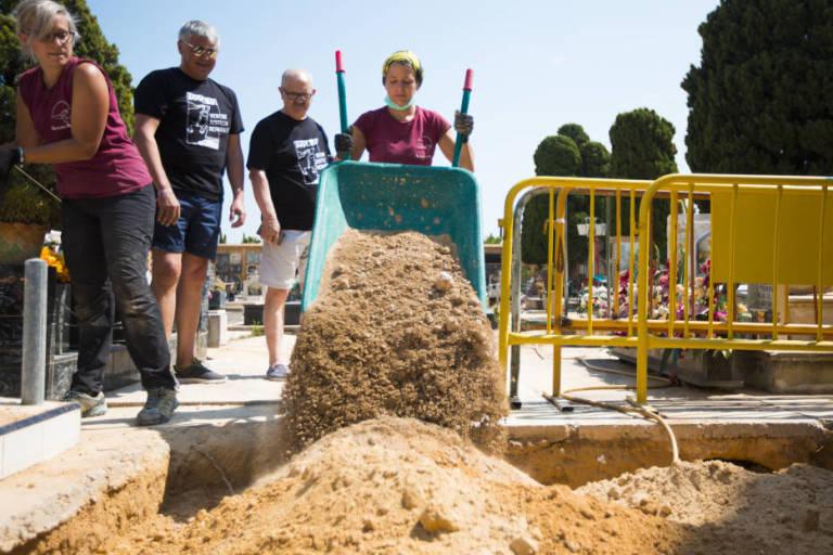 Exhumación de la Fosa 112 de Paterna. Foto: ESTRELLA JOVER.