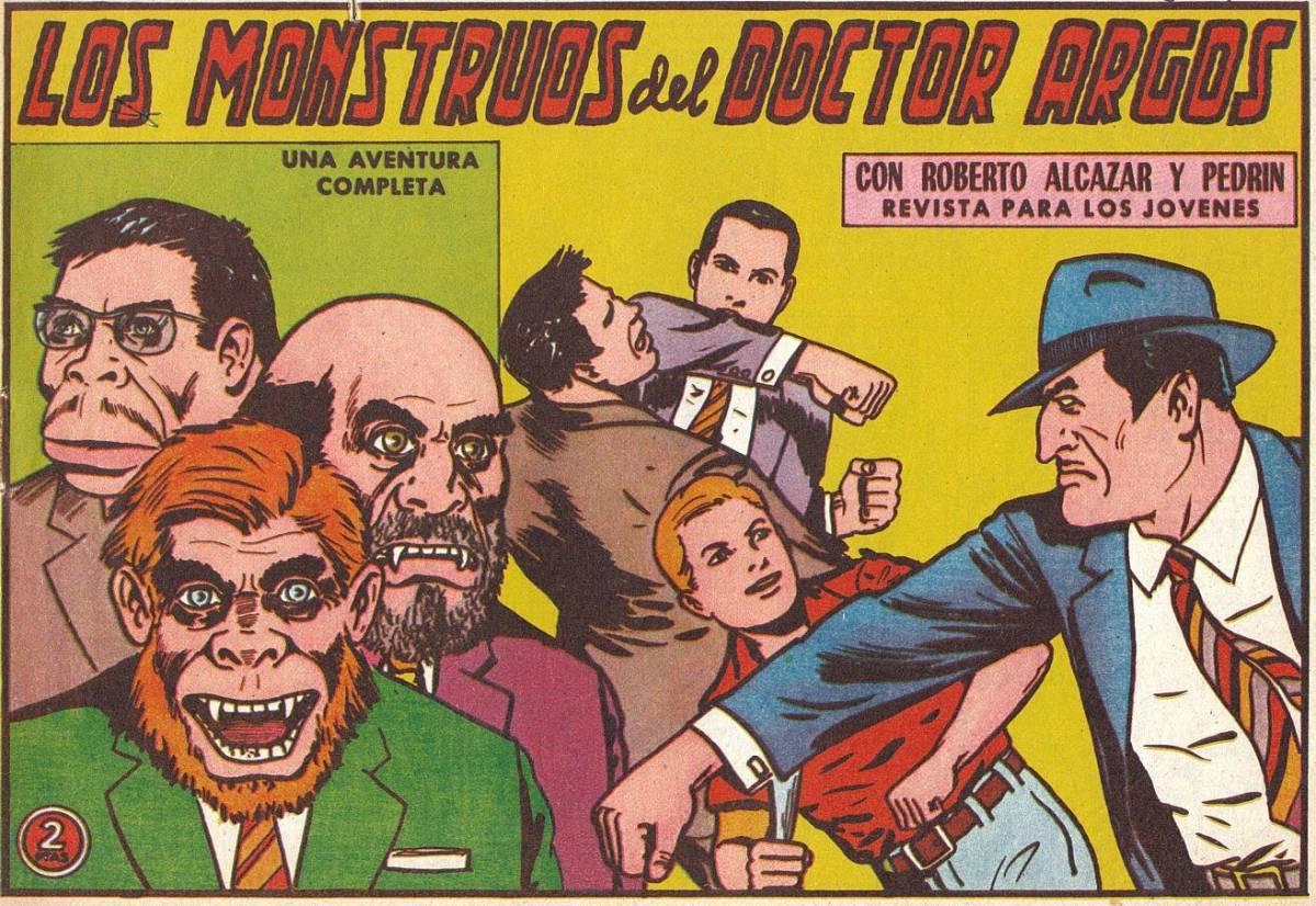 Una parte importante de las portadas de Roberto Alcázar y Pedrín adelantaban el momento en el que se iban a liar a puñetazos.
