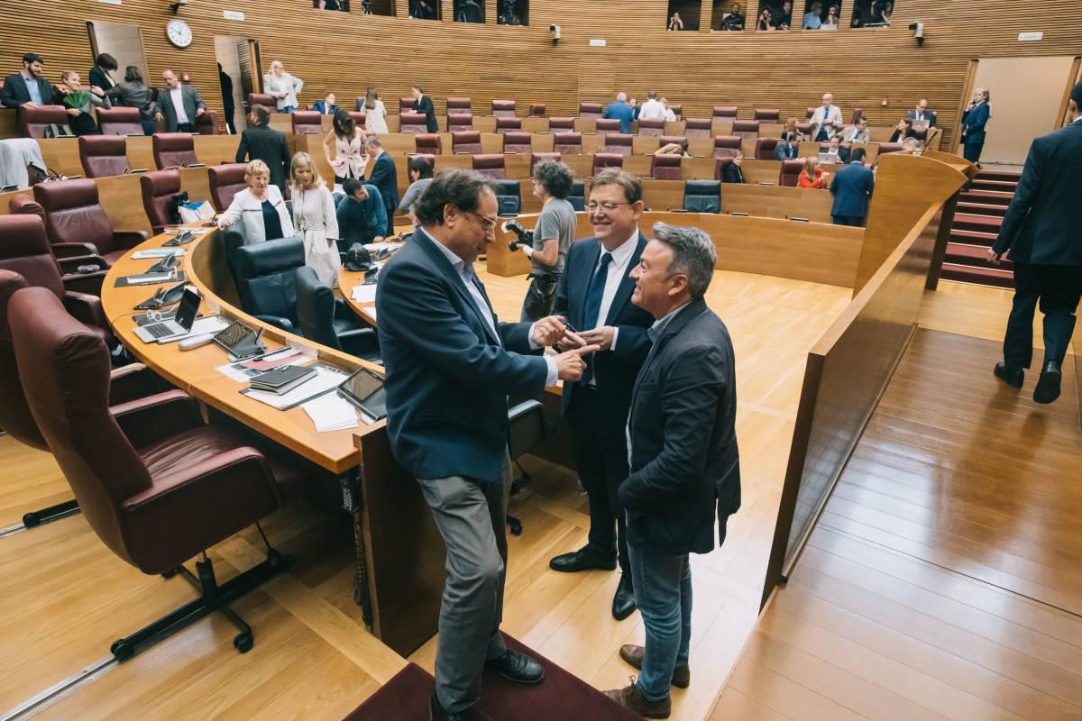 Vicent Soler junto al president de la Generalitat, Ximo Puig. Foto: KIKE TABERNER