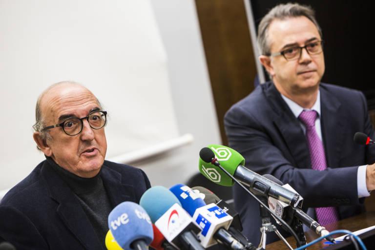 Jaume Roures junto al exsecretario autonómico de Comunicación del Consell, José María Vidal. Foto: EVA MAÑEZ