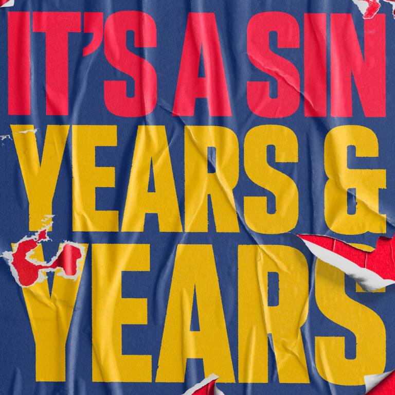 Carátula del single 'It's a Sin', de 'Years and Years'