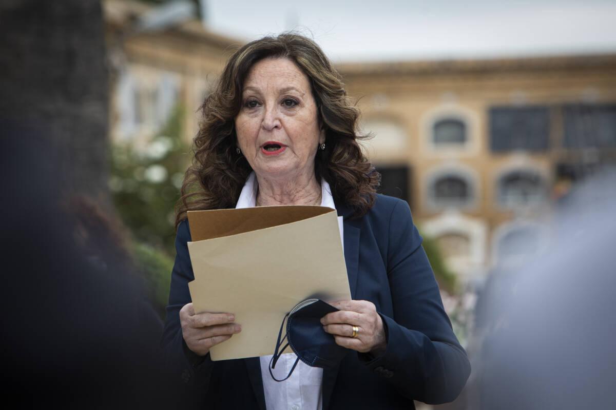 Carmen Contreras, presidenta de la asociación de familiares de la fosa 114. Foto: EVA MÁÑEZ
