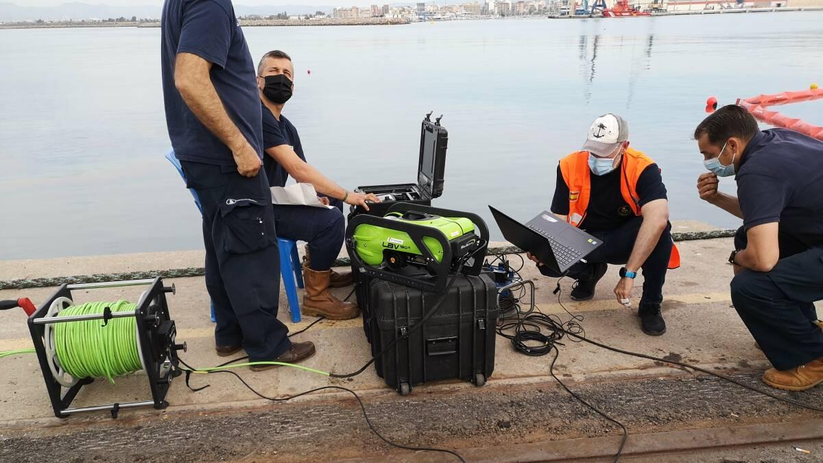 El robot subacuático de Salvamento Marítimo llegado desde A Coruña.