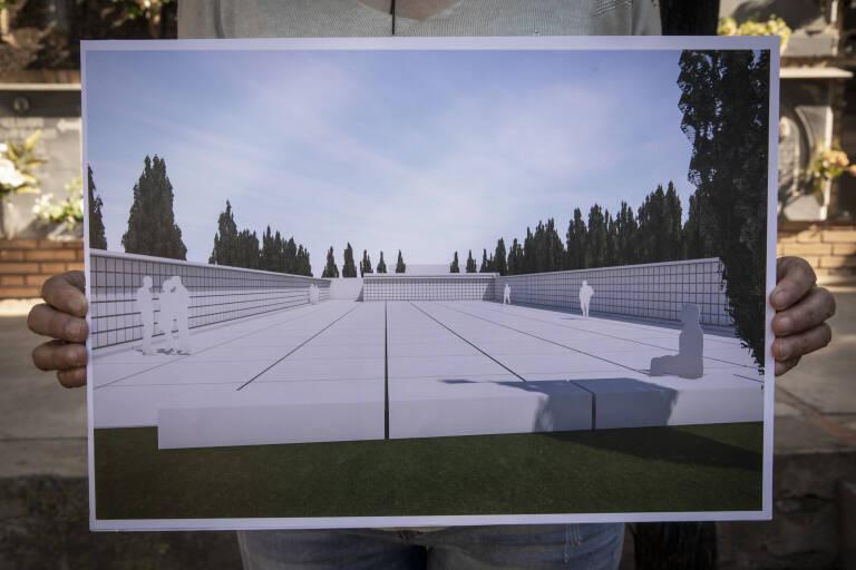 Plano del memorial. Foto: EVA MÁÑEZ