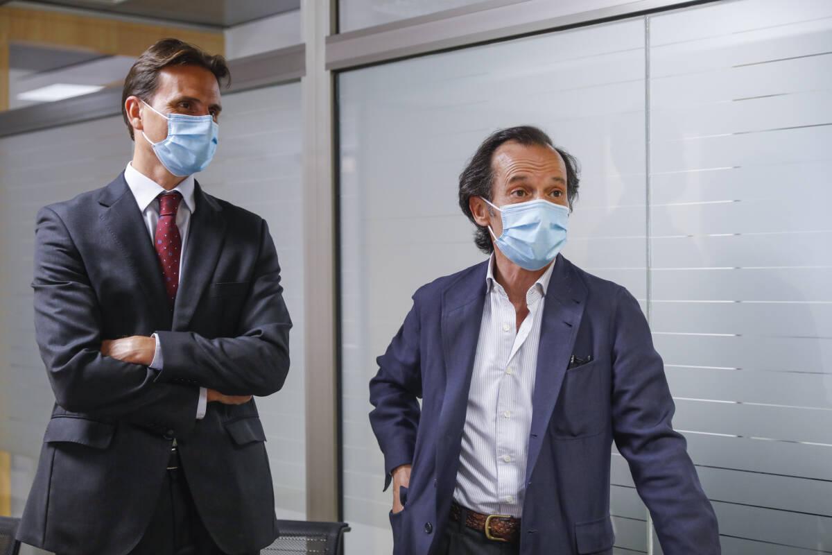 Luis Herrero (izquierda) y Javier Marín