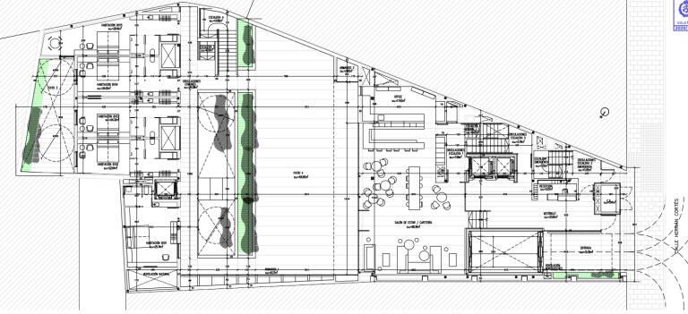 Uno de los planos del proyecto. Foto: VP.