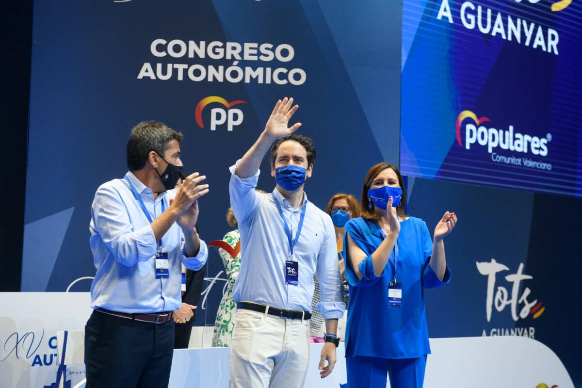 García Egea, junto a Mazón y Catalá. Foto: KIKE TABERNER