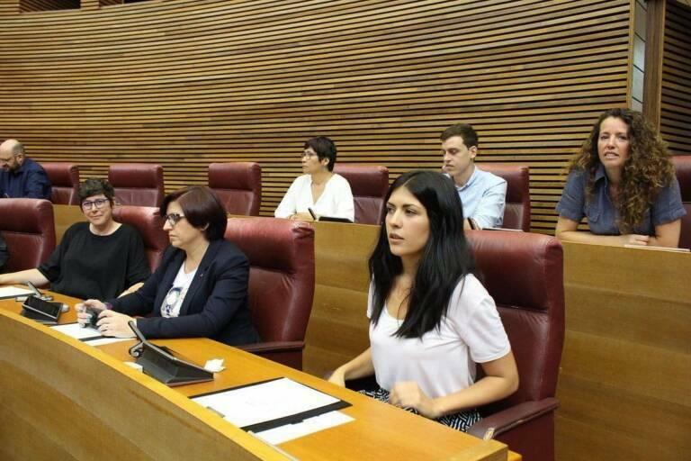 Diputadas de Podem, en Les Corts. Foto: EP
