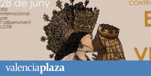 El juez no ve delito en el cartel la Moreneta y la Virgen de los Desamparados besándose